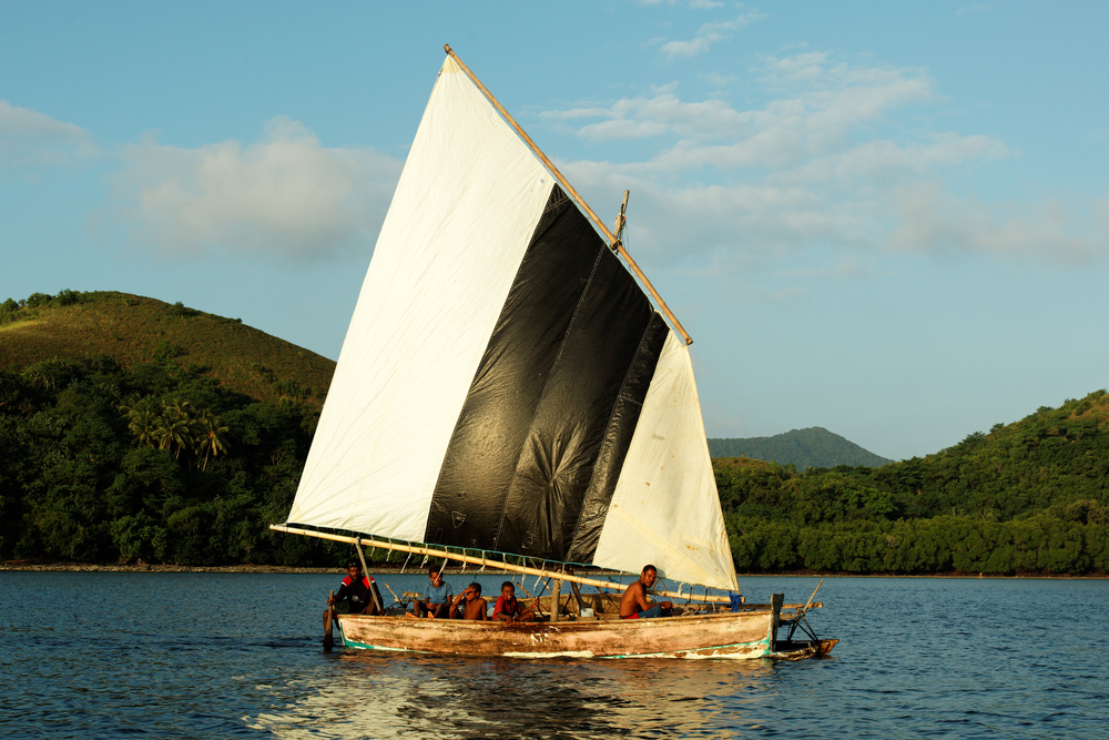 RENARD ISLANDS PNG JULY 12 Unidentified melanesian people of Papua New Guinea
