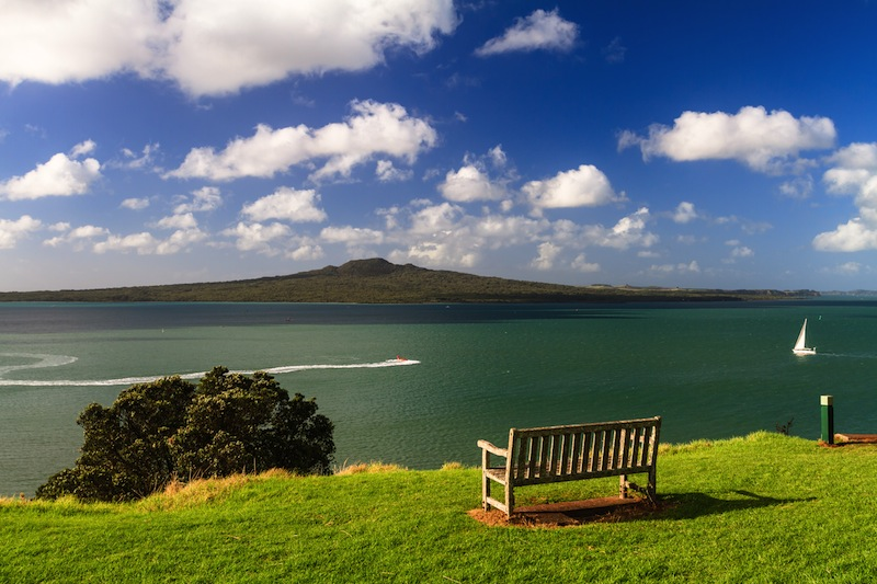 Rangitoto Island from Devonport Auckland New Zealand
