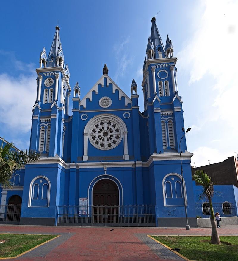 Recoleta church in historic down town of Lima city Peru