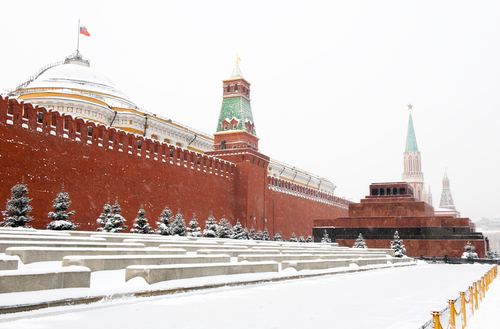 Red square winter Moscow Russia