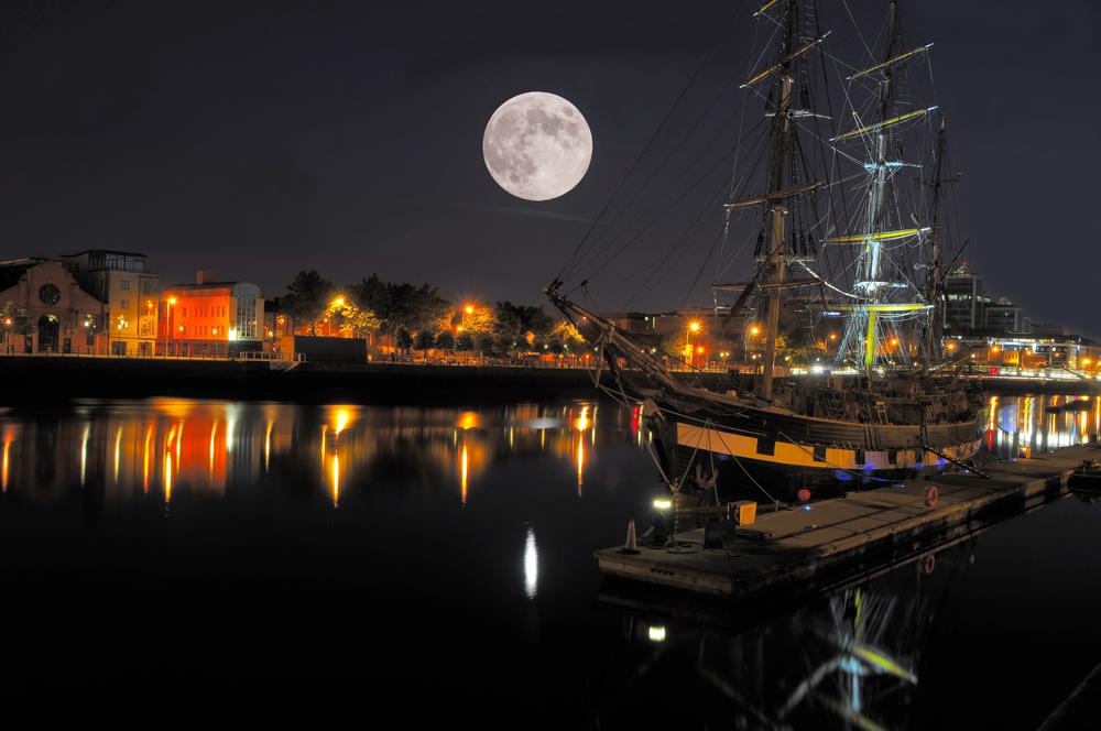 River Liffey at night