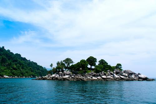 Rock island at Tioman Malaysia