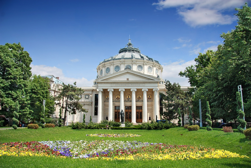 Romanian Athenaeum is a concert hall in the center of Bucharest Romania