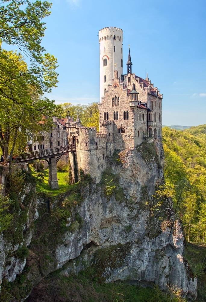 Romantic castle of Liechtenstein in Schwarzwald Germany