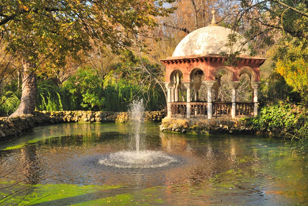 Romantic place in Maria Luisa park Seville Spain
