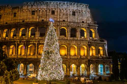 Rome Italy on christmasnatale