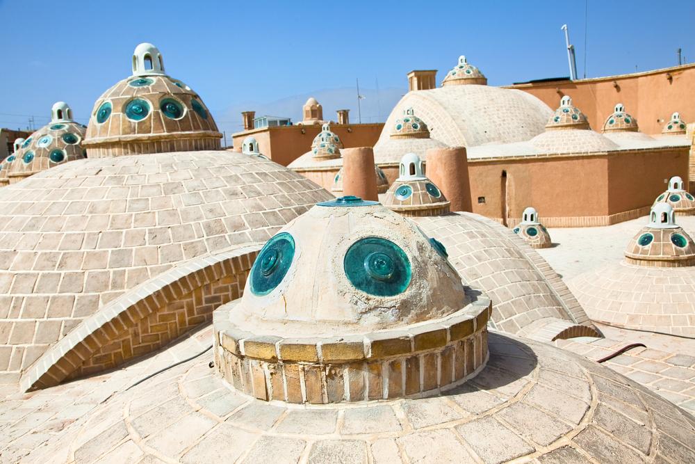 Roof of Sultan Mir Ahmed Hammam bathhouse Kashan Iran