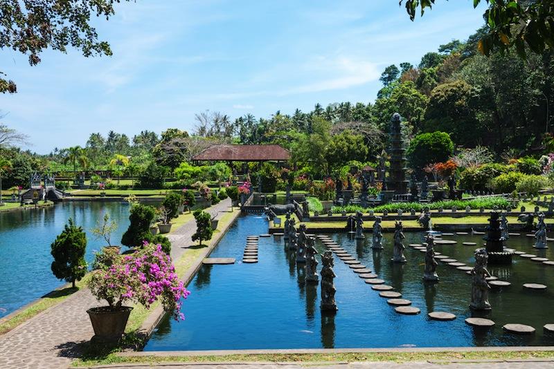 Royal water palace and pools Tirthagangga Bali island