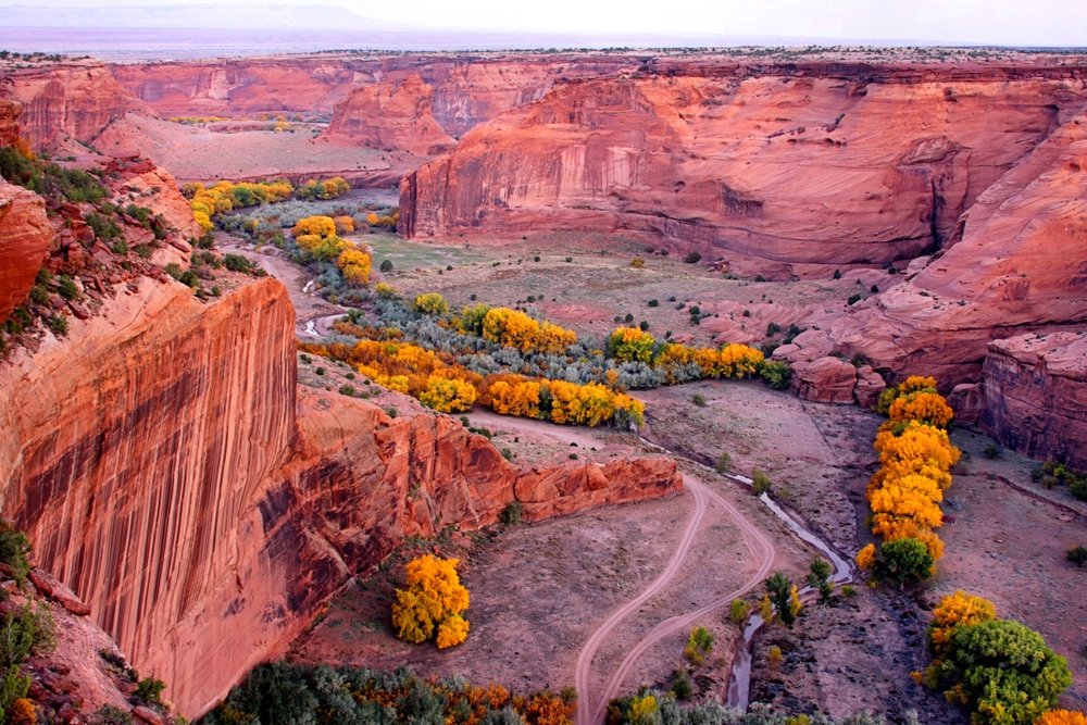 Rugged Canyon de Chelly National Park in Arizona in autumn