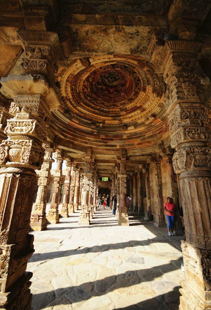 Ruins of Jain Temple at Qutub Minar Complex New Delhi India
