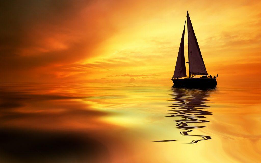 Sailboat Sunrise 1920x1200