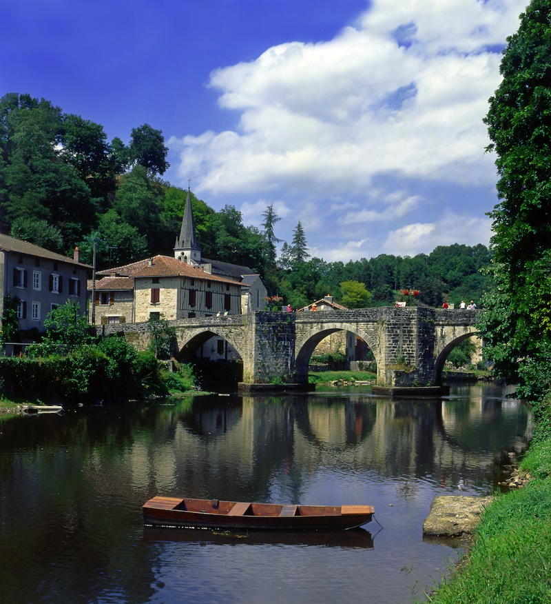 Saint Leonard de No blat The Vienne river Route to Santiago de Compostela France UNESCO