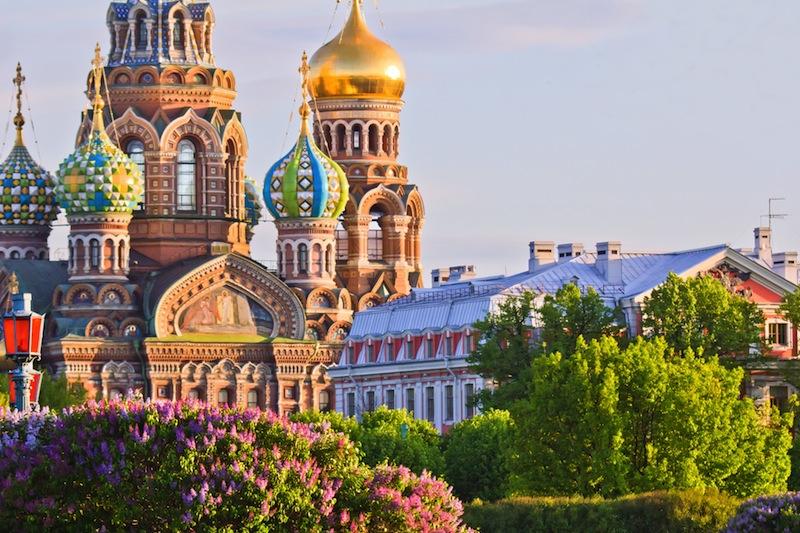 Saint Petersburg Russia Orthodox Church Spas na Krovi