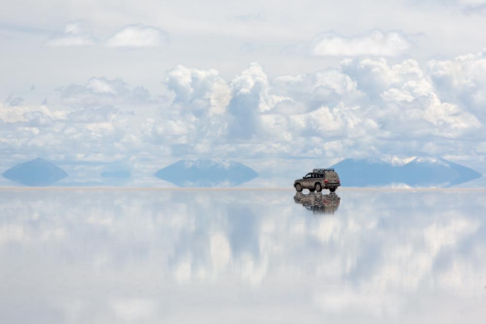 Salar de Uyuni is largest salt flat in the World Altiplano Bolivia South America