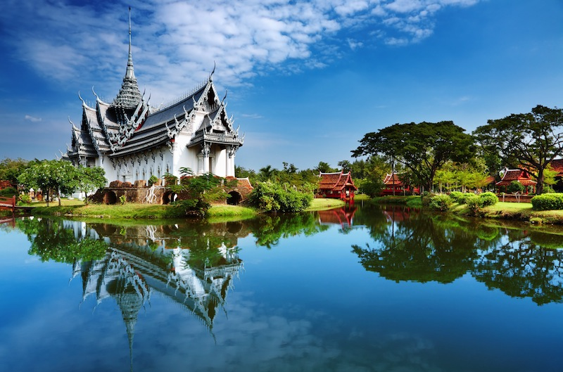 Sanphet Prasat Palace Ancient City Bangkok Thailand