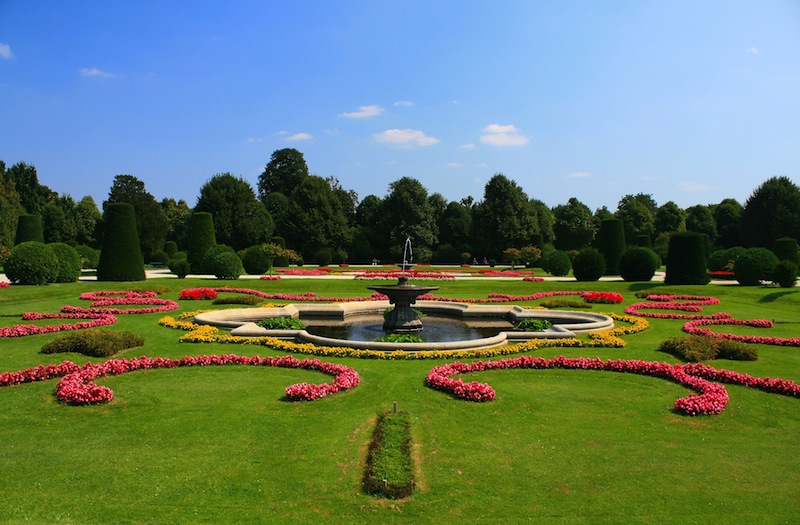 Schonbrunn Palace Gardens at Vienna Austria