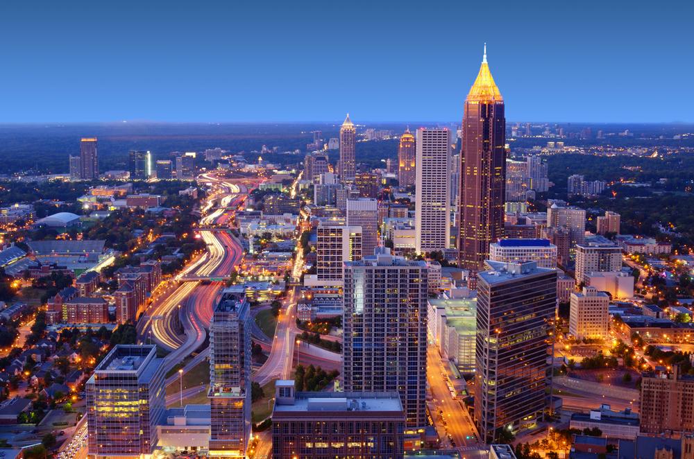 Skyline of downtown Atlanta Georgia USA