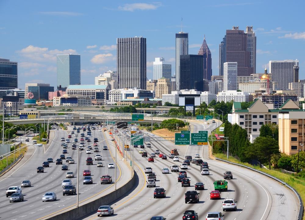 Skyline of downtown Atlanta Georgia