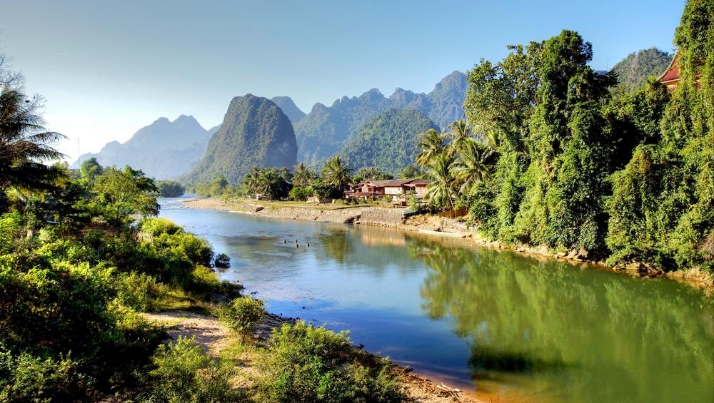 Song river at Vang Vieng Laos