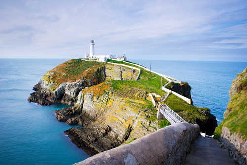 South Stack Lighthouse in Anglesey Wales UK GB1