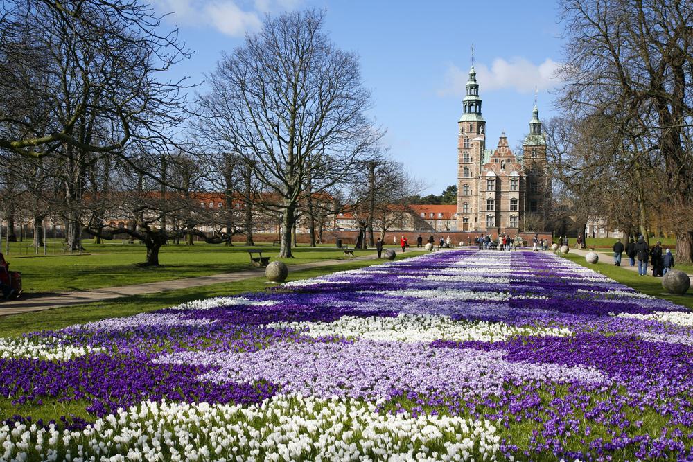 Springtime Rosenborg Castle the Kings Garden Copenhagen Denmark