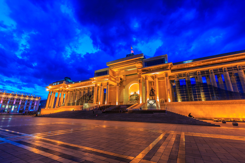 Square is the central square of Ulaanbaatar Mongolia