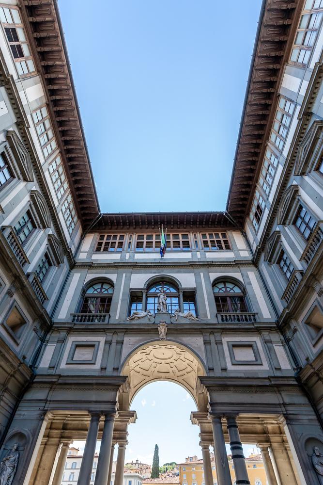 Square of the Uffizi Florence Tuscany Italy