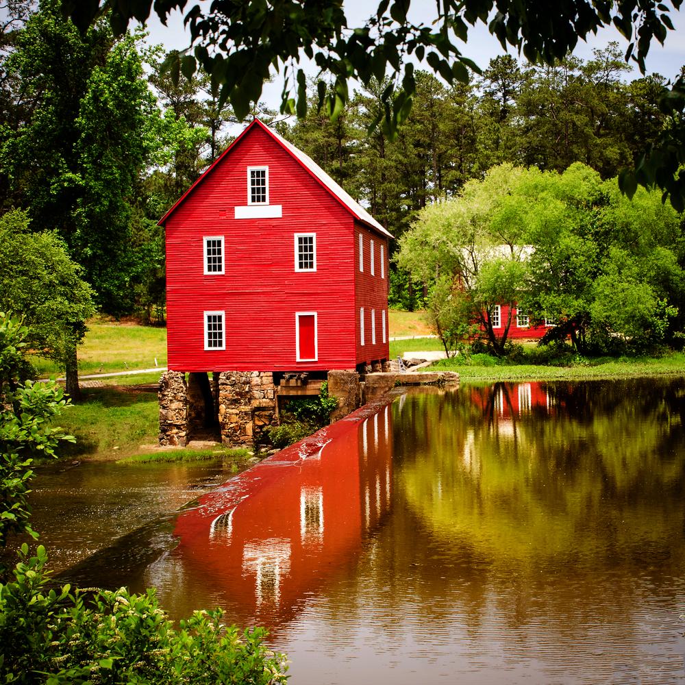 Starrs Mill a historic landmark near Atlanta Georgia
