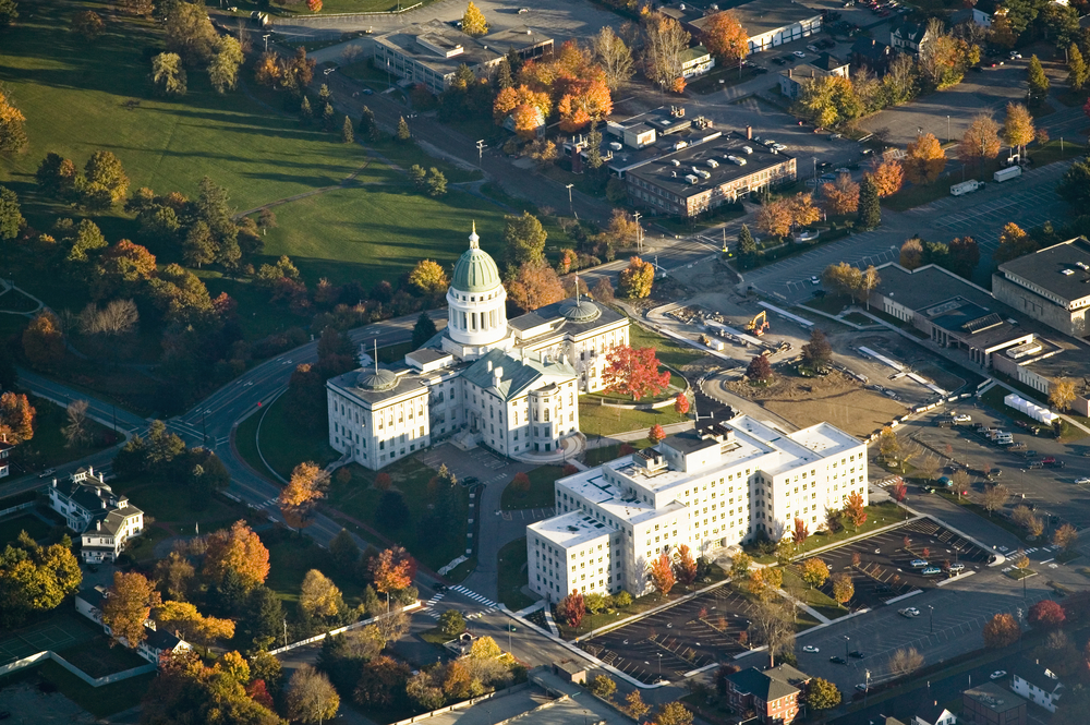 State Capital building in Augusta Maine