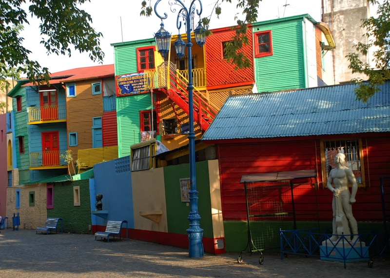 Street La Boca Caminito Buenos Aires Argentina