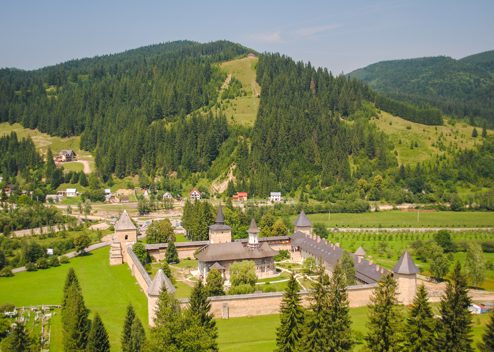 Sucevita Monastery one of the most famous Romanian Orthodox monasteries in Bucovina