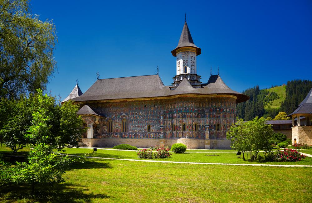 Sucevita painted monastery in Romania