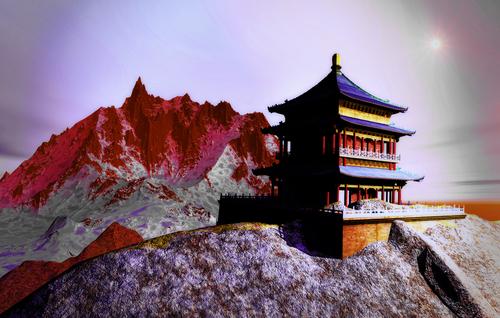 Sun temple 9 Buddhist shrine in the Himalayas