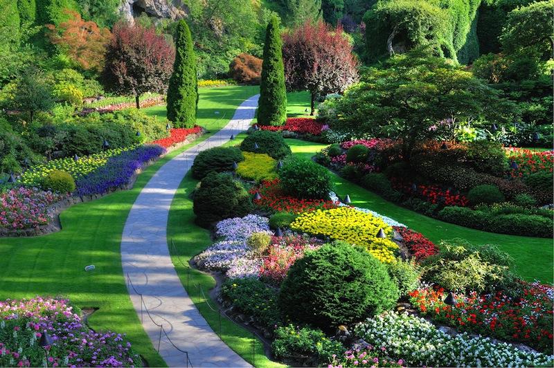 Sunken garden victoria british columbia canada