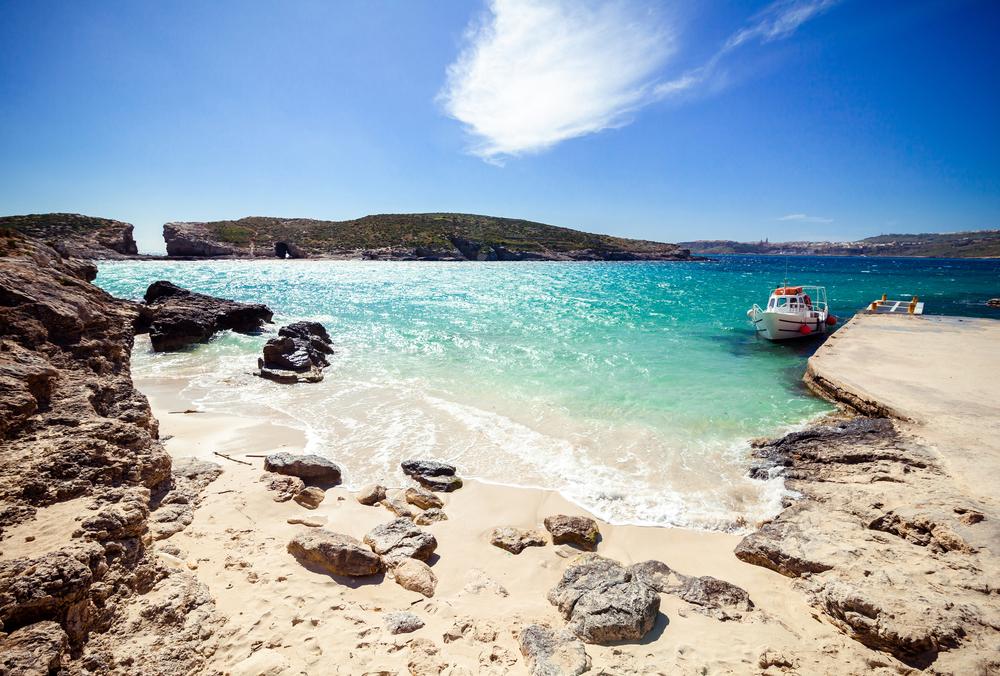 Sunny Blue lagoon on the Comino Island Malta 7