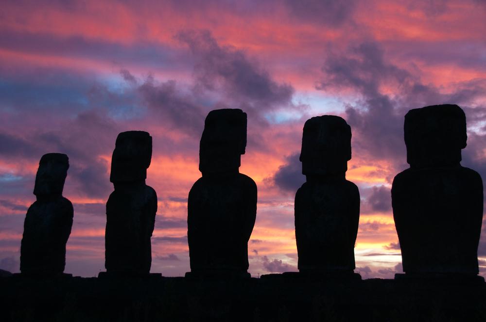 Sunrise at Ahu Tongariki Easter island Chile 6