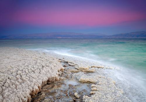 Sunrise at Dead Sea giordania