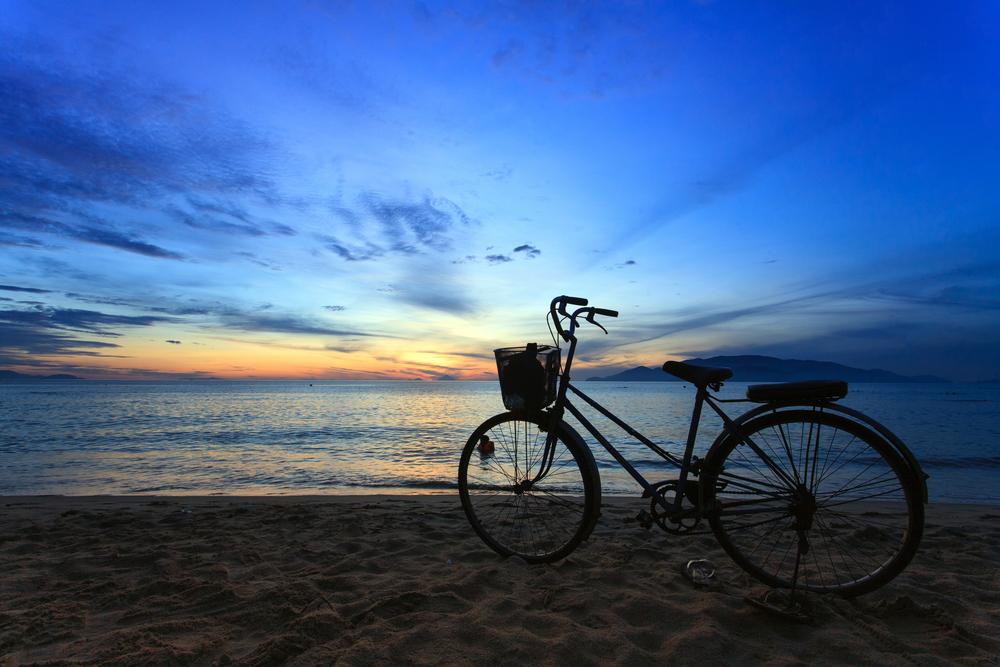 Sunrise at Nha Trang beach Khanh Hoa Province Vietnam