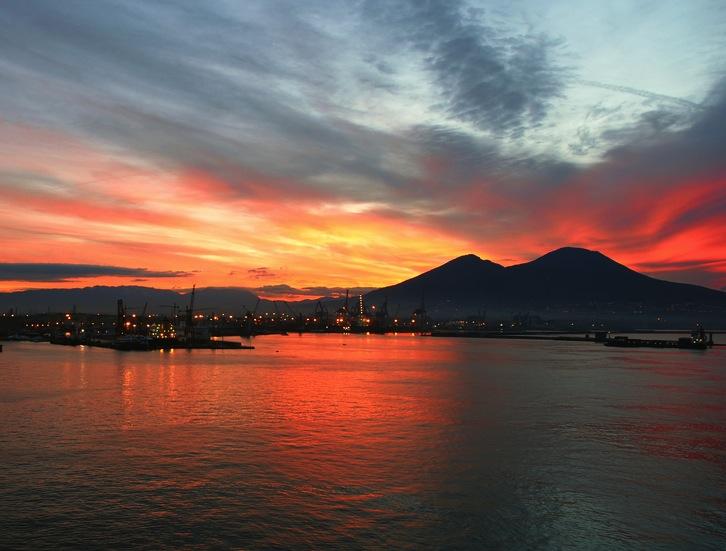 Sunrise over mount Vesuvius 8