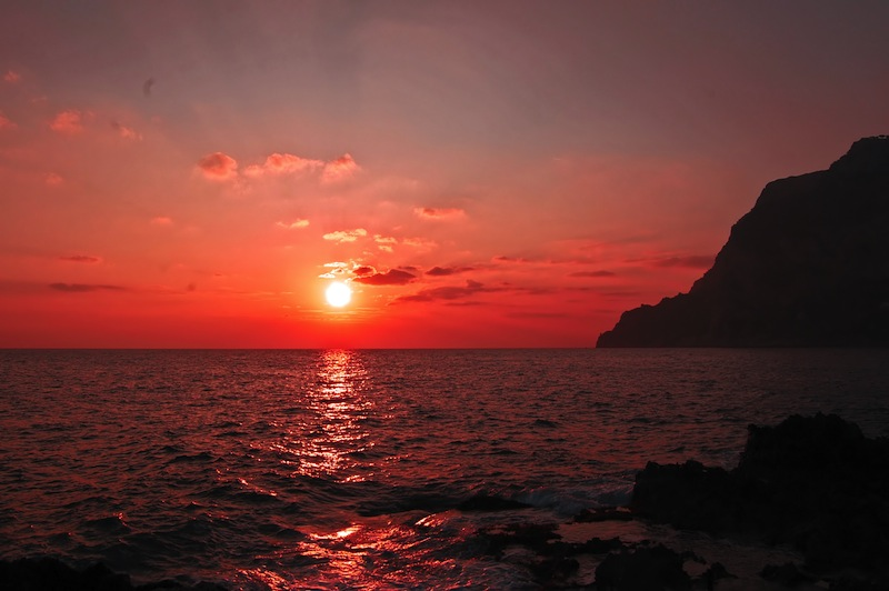 Sunset on Capri Island Italy