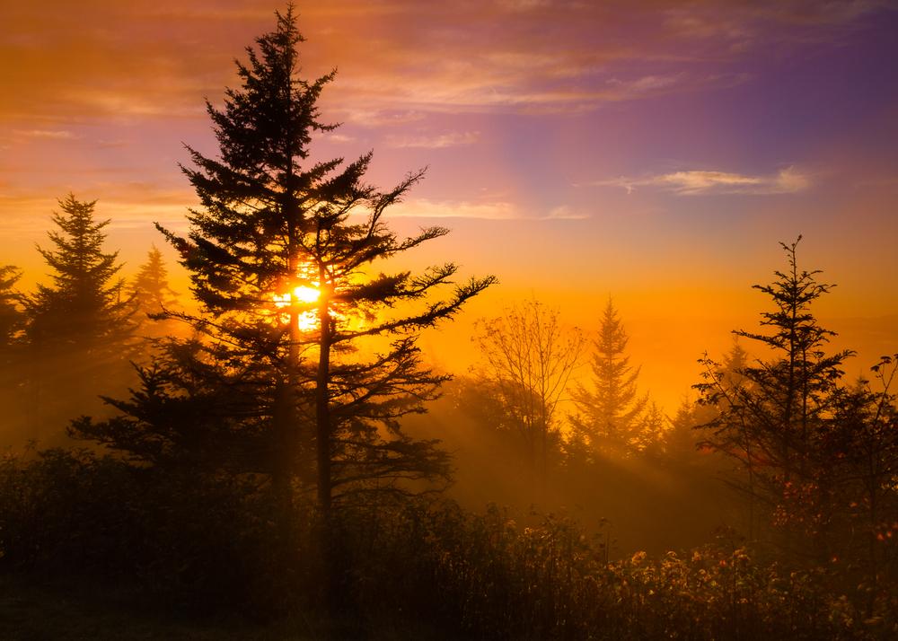 Sunset on the Blue Ridge Parkway Taken at Richland Balsam Overlook North Carolina