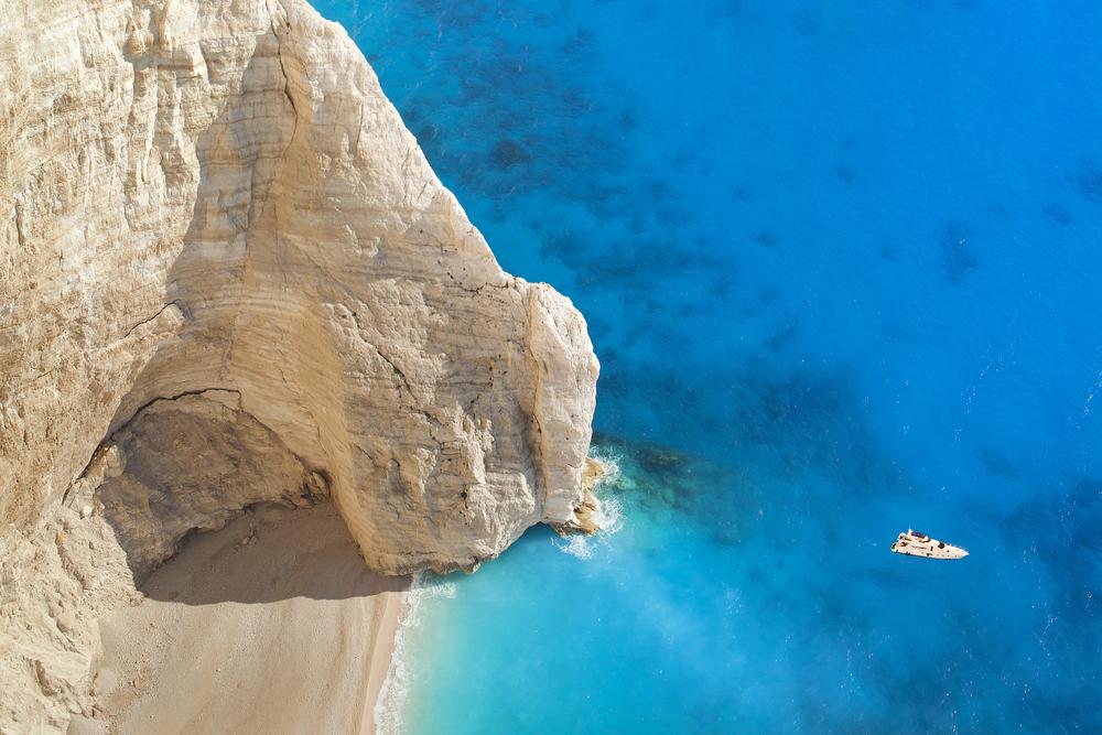 Superb beach Navagio in Zakynthos Greece