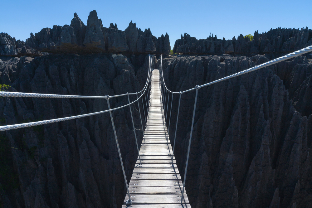 Suspension bridge Tsingy de Bemaraha