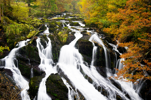 Swallow Falls north Wales Snowdonia