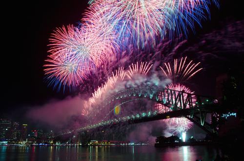 Sydney Harbour NYE Fireworks Display anno nuovo