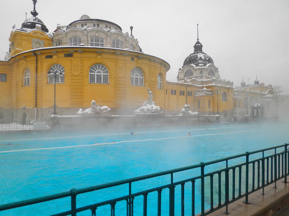 Szechenyi spa bath Budapest Hungary