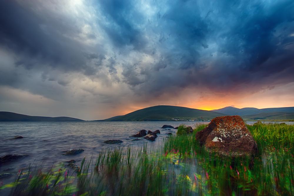 Tabatskhuri Lake in Georgia