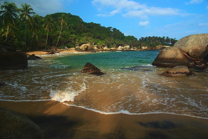 Tayrona National Park close to Santa Marta in Northern Colombia