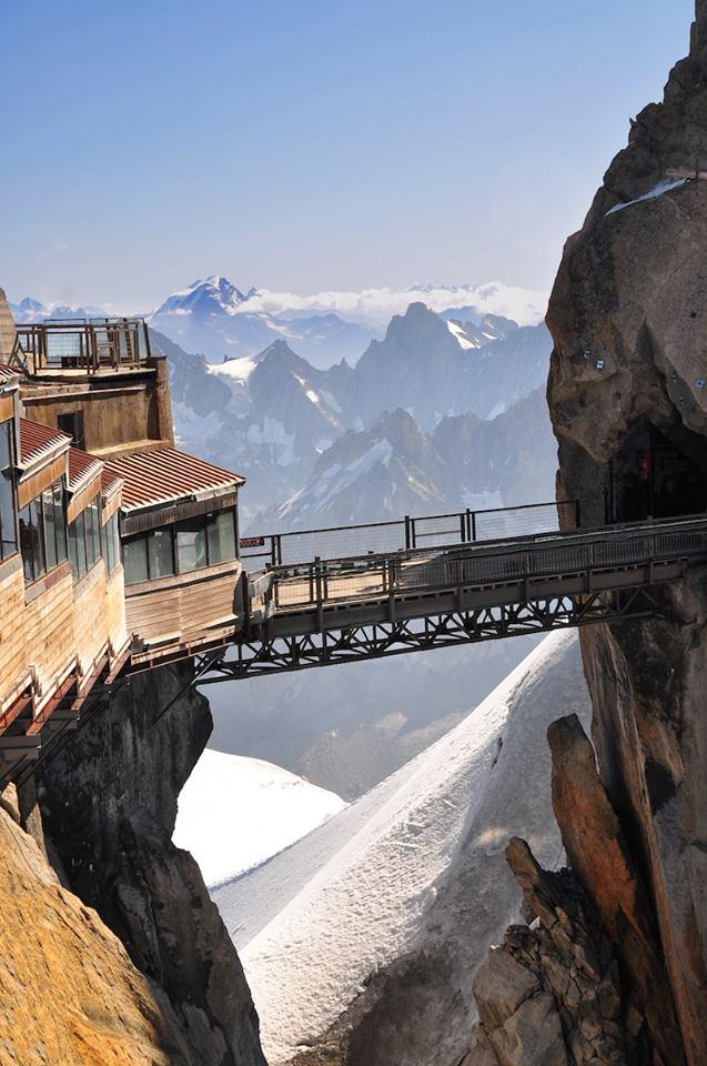 The Aiguille du Midi 3842 m Mont Blanc