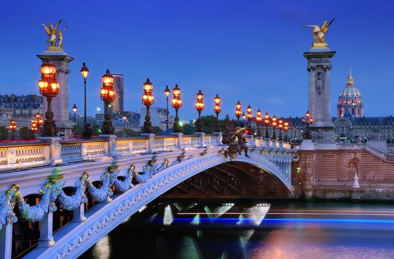 The Alexander III Bridge parigi